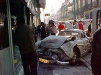 Classic car in accident